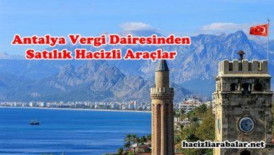 Antalya Vergi Dairesinden Satılık Hacizli Araçlar