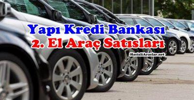 Yapı Kredi Bankasından Satılık 2 El Araçlar