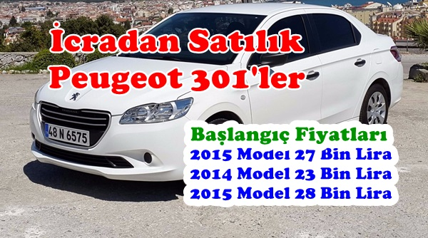 İcradan Satılık Peugeot 301 Tipi Araçlar
