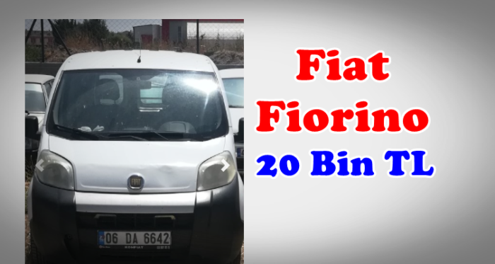 SGK'dan 20 Bin Lira Bedelle Hacizli Fiat Fiorino
