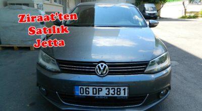 Ziraat Bankasından Satılık 2. El Hacizli Volkswagen Jetta 2012 Dizel